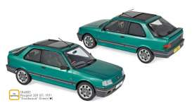 Peugeot  - 309 GTi 1991 green - 1:18 - Norev - 184883 - nor184883 | Toms Modelautos