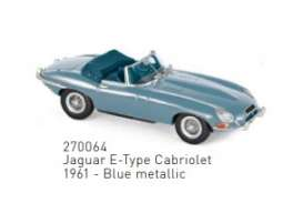 Jaguar  - E-Type 1961 blue - 1:43 - Norev - 270064 - nor270064 | Toms Modelautos