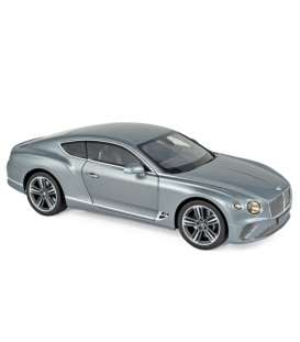 Bentley  - Continental 2019 grey - 1:18 - Norev - 182780 - nor182780 | Toms Modelautos