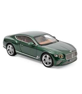Bentley  - Continental 2018 green - 1:18 - Norev - 182782 - nor182782 | Tom's Modelauto's