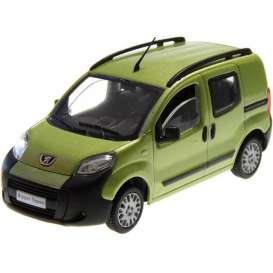 Peugeot  - Bipper 2008 green-yellow - 1:43 - Solido - 143300gn - soli143300gn | Toms Modelautos