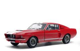 Shelby  - Mustang GT500 red/white - 1:18 - Solido - 1802902 - soli1802902 | Tom's Modelauto's