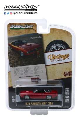 Plymouth  - Hemi Cuda 1970 red - 1:64 - GreenLight - 39020C - gl39020C | Toms Modelautos