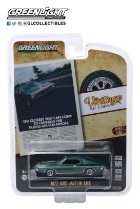 AMC  - Javelin 1972 green - 1:64 - GreenLight - 39020D - gl39020D | Toms Modelautos