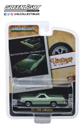 Ford  - Ranchero 1972 green - 1:64 - GreenLight - 39020E - gl39020E | Toms Modelautos