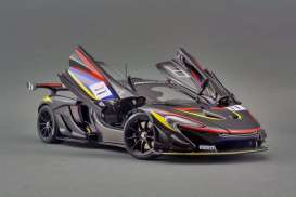 McLaren  - P1 GTR black/red/blue/yellow - 1:18 - Almost Real - ALM840108 - ALM840108 | Toms Modelautos