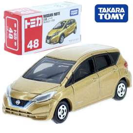 Nissan  - Note gold - 1:63 - Tomica - 048 - to048 | Toms Modelautos