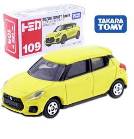 Suzuki  - Swift Sport yellow - 1:60 - Tomica - 109 - to109 | Toms Modelautos