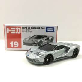 Ford  - GT concept car silver - 1:64 - Tomica - 19 - to019 | Tom's Modelauto's
