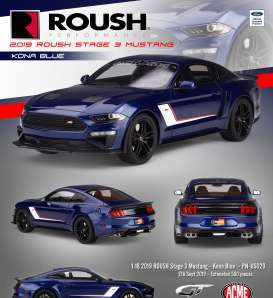 Roush Performance Ford - Mustang Stage 3 2019 blue/white - 1:18 - Acme Diecast - US020 - GTUS020 | Toms Modelautos
