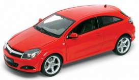Opel  - 2005 red - 1:18 - Welly - 12563r - welly12563r | Tom's Modelauto's