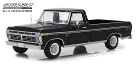 Ford  - F-100 pick-up 1972 Black - 1:18 - GreenLight - 12963 - gl12963 | Toms Modelautos