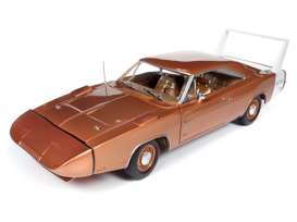 Dodge  - Daytona Charger 1968 bronze - 1:18 - Auto World - AMM1168 - AMM1168 | Toms Modelautos