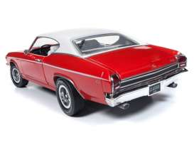 Chevrolet  - Chevelle Hardtop 1969 red/white - 1:18 - Auto World - AMM1169 - AMM1169 | Toms Modelautos