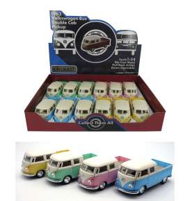 Volkswagen  - T1 pick-up 1963 various - 1:34 - Kinsmart - 5387DY - KT5387DY | Toms Modelautos