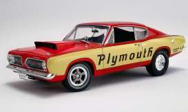 Plymouth  - Super Stock Barracuda 1968 yellow/red - 1:18 - Acme Diecast - 1806114 - acme1806114 | Toms Modelautos