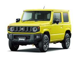 Suzuki  - Jimny 2018 kinetic yellow - 1:32 - Aoshima - 05776 - abk05776 | Tom's Modelauto's
