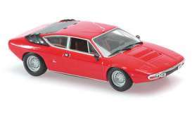 Lamborghini  - Urraco 1974 red - 1:87 - Minichamps - 870103321 - mc870103321 | Tom's Modelauto's