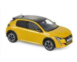 Peugeot  - 208 GT Line 2019 yellow - 1:43 - Norev - 472830 - nor472830 | Tom's Modelauto's
