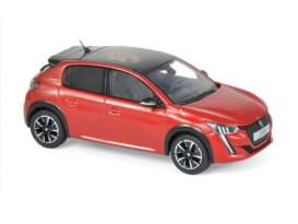 Peugeot  - 208 GT Line 2019 red - 1:43 - Norev - 472832 - nor472832 | Tom's Modelauto's