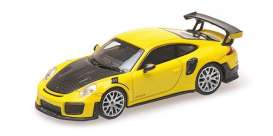 Porsche  - 911 2018 yellow - 1:87 - Minichamps - 870068124 - mc870068124 | Toms Modelautos