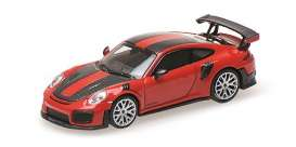 Porsche  - 911 2018 red - 1:87 - Minichamps - 870068126 - mc870068126 | Toms Modelautos