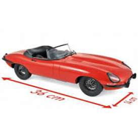 Jaguar  - E-Type Cabriolet 1962 red - 1:12 - Norev - 122720 - nor122720 | Tom's Modelauto's