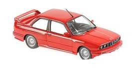 BMW  - M3 (E30) red - 1:43 - Maxichamps - 940020300 - mc940020300 | Toms Modelautos