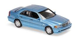 Mercedes Benz  - C-Class 1997 blue - 1:43 - Maxichamps - 940037060 - mc940037060 | Toms Modelautos