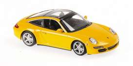 Porsche  - 911 2006 yellow - 1:43 - Maxichamps - 940066161 - mc940066161 | Toms Modelautos