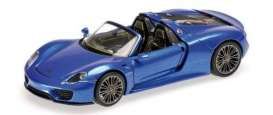 Porsche  - 918 Spyder 2013 blue - 1:87 - Minichamps - 870062138 - mc870062138 | Tom's Modelauto's