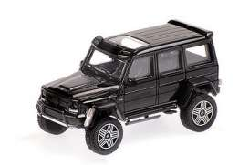 Brabus Mercedes Benz - 4x4² 2016 black - 1:87 - Minichamps - 870037204 - mc870037204 | Toms Modelautos