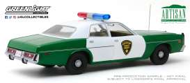 Plymouth  - Fury 1975 green/white - 1:18 - GreenLight - 19076 - gl19076 | Toms Modelautos