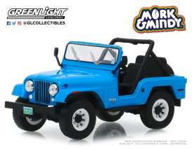 Jeep  - CJ-5 1972 blue - 1:43 - GreenLight - 86570 - gl86570 | Tom's Modelauto's