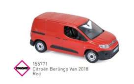 Citroen  - Berlingo 2018 red - 1:43 - Norev - 155771 - nor155771 | Toms Modelautos
