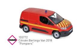 Citroen  - Berlingo 2018 red - 1:43 - Norev - 155772 - nor155772 | Toms Modelautos