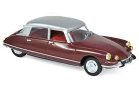 Citroen  - DS 21 Pallas 1967 red - 1:43 - Norev - 157081 - nor157081 | Toms Modelautos