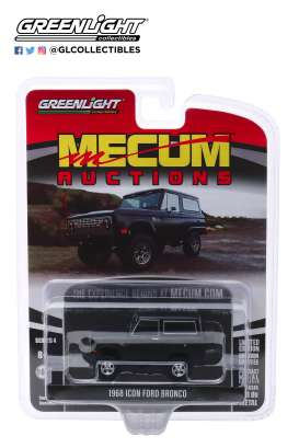 Ford  - Bronco 1968 black - 1:64 - GreenLight - 37190B - gl37190B | Toms Modelautos