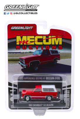 Chevrolet  - K5 Blazer 1991 red - 1:64 - GreenLight - 37190E - gl37190E | Tom's Modelauto's