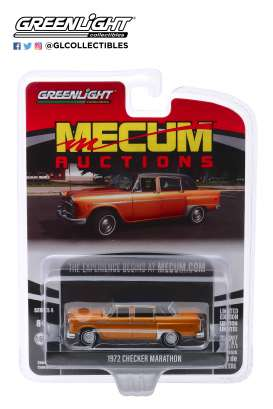Checker  - Marathon 1972 brown - 1:64 - GreenLight - 37190F - gl37190F | Toms Modelautos
