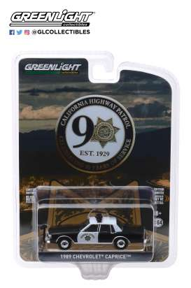 Chevrolet  - Caprice  1989 white/black - 1:64 - GreenLight - 28020C - gl28020C | Tom's Modelauto's