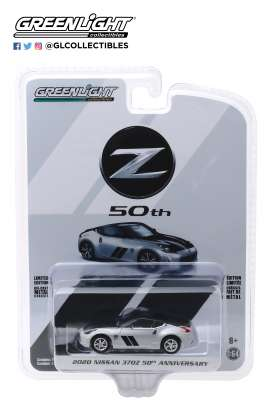 Nissan  - 370Z 2020 silver/black - 1:64 - GreenLight - 28020F - gl28020F | Tom's Modelauto's