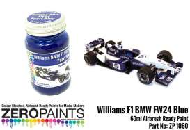 Zero Paints Paint - Williams BMW FW24 Pearl Blue - Zero Paints - ZP1060 | Toms Modelautos