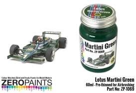Zero Paints Paint - Lotus Martini Green - Zero Paints - ZP1069 | Toms Modelautos