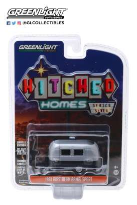 Airstream  - silver/black - 1:64 - GreenLight - 34070E - gl34070E | Tom's Modelauto's