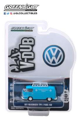 Volkswagen  - Panel 1971 blue/white - 1:64 - GreenLight - 29980A - gl29980A | Tom's Modelauto's