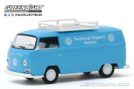 Volkswagen  - Panel 1971 blue/white - 1:64 - GreenLight - 29980A - gl29980A | Toms Modelautos