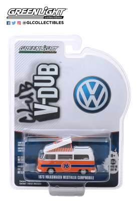 Volkswagen  - Type 2 1973 orange/white - 1:64 - GreenLight - 29980B - gl29980B | Tom's Modelauto's