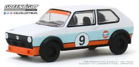 Volkswagen  - Golf 1974 blue/white/orange - 1:64 - GreenLight - 29980C - gl29980C | Toms Modelautos