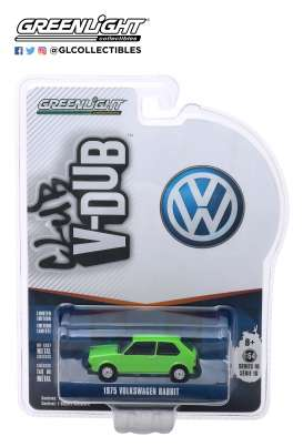 Volkswagen  - Rabbit 1975 green - 1:64 - GreenLight - 29980D - gl29980D | Tom's Modelauto's